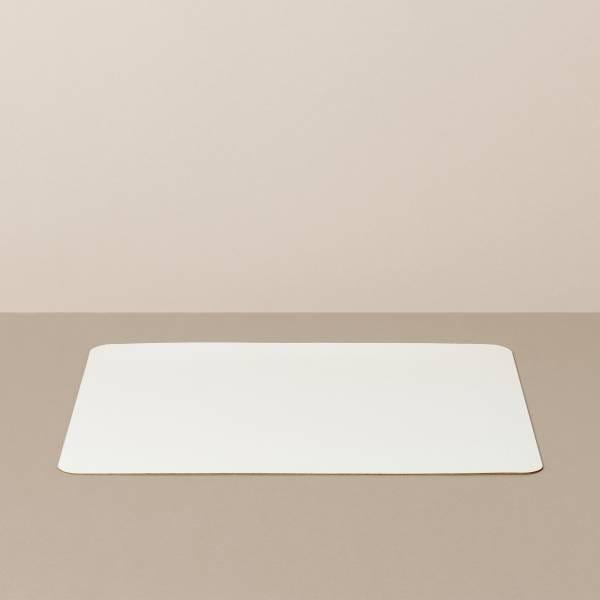 Tabletteinlage/Platzset L, eckig, in Weiß/Mint