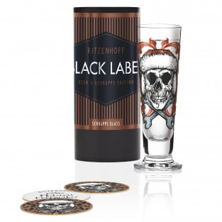 Black Label Schnapsglas von Medusa Dollmaker