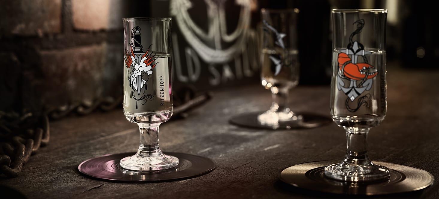 Schnapps: Schnapsglas
