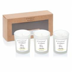 Nature Duftkerze 3er-Set, White Musk