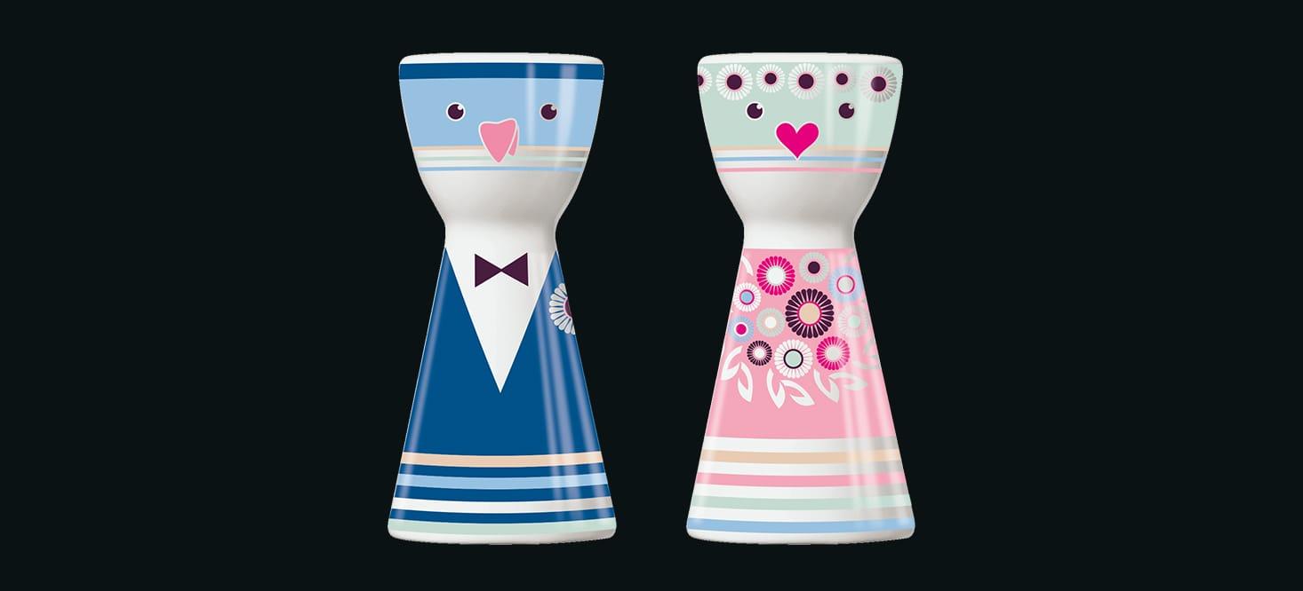 Mr. Salt + Mrs. Pepper: Salz- + Pfefferstreuer