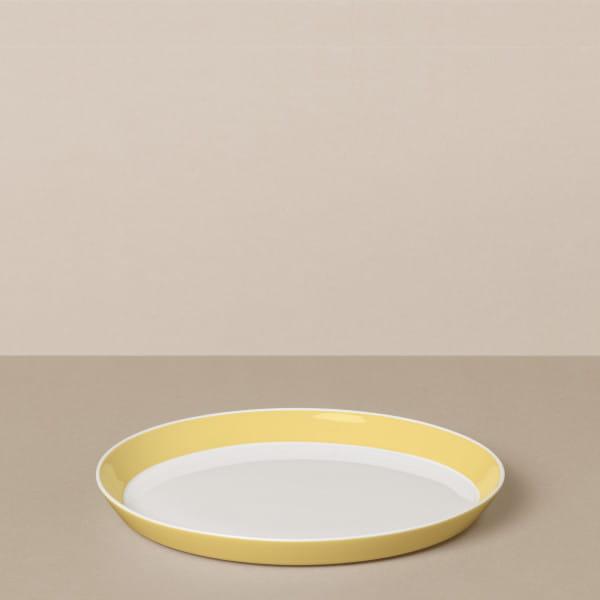 Dessertteller in Weiß/Gelb