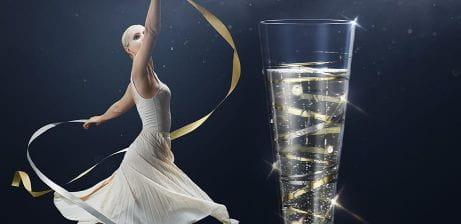 Jahrgangs-Champagnerglas 2021 – Veredelt mit 12 Swarovski® Kristallen