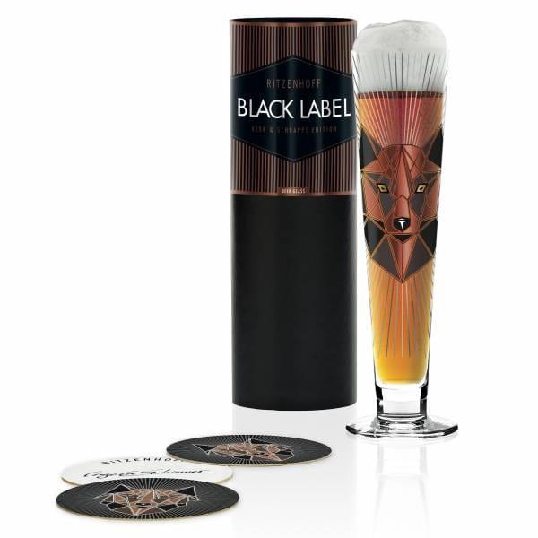 Black Label Bierglas von Angela Schiewer