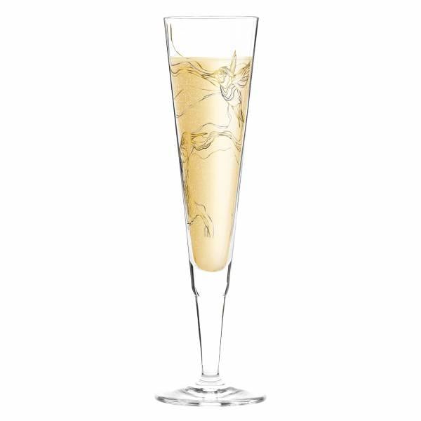 Champus Champagnerglas von Marvin Benzoni (Hummingbirds)