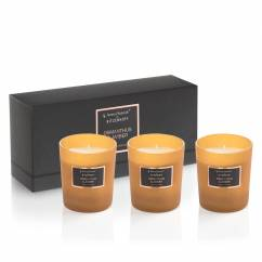 Selection Duftkerze 3er-Set, Osmanthus & Amber