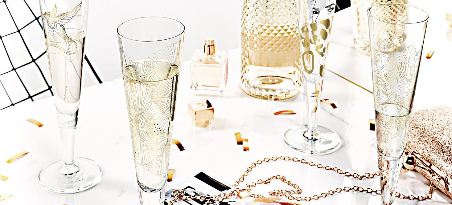 Champus: Champagnerglas