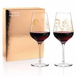 Wein-Ensemble Rotweinglas-Set von Burkhard Neie (Pan & Selene | Zeus & Leda)