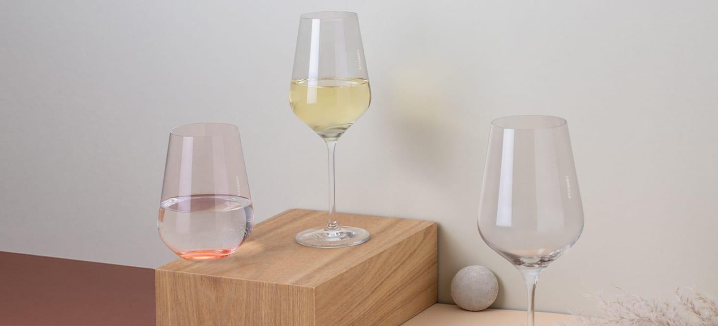 Fjordlicht: Rot-, Weißwein- + Wasserglas-Set