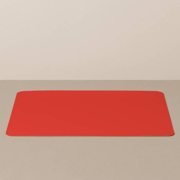 Tabletteinlage/Platzset XL, eckig, in Schwarz/Rot