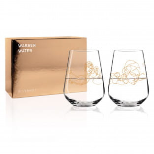 Wein-Ensemble Wasserglas-Set von Burkhard Neie (Dionysos & Pan   Zeus & Semele)