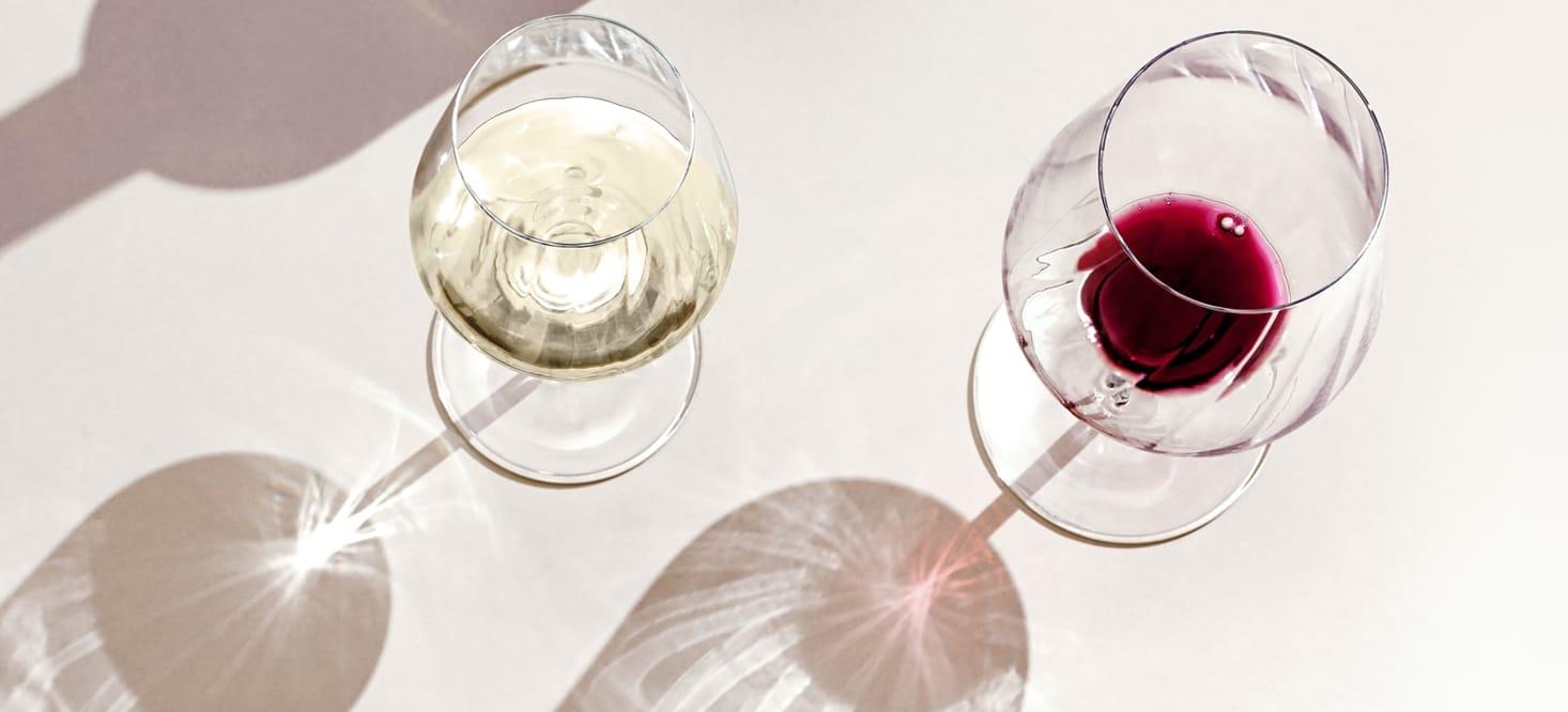 Sternschliff: Rot-, Weißwein- + Wasserglas-Set