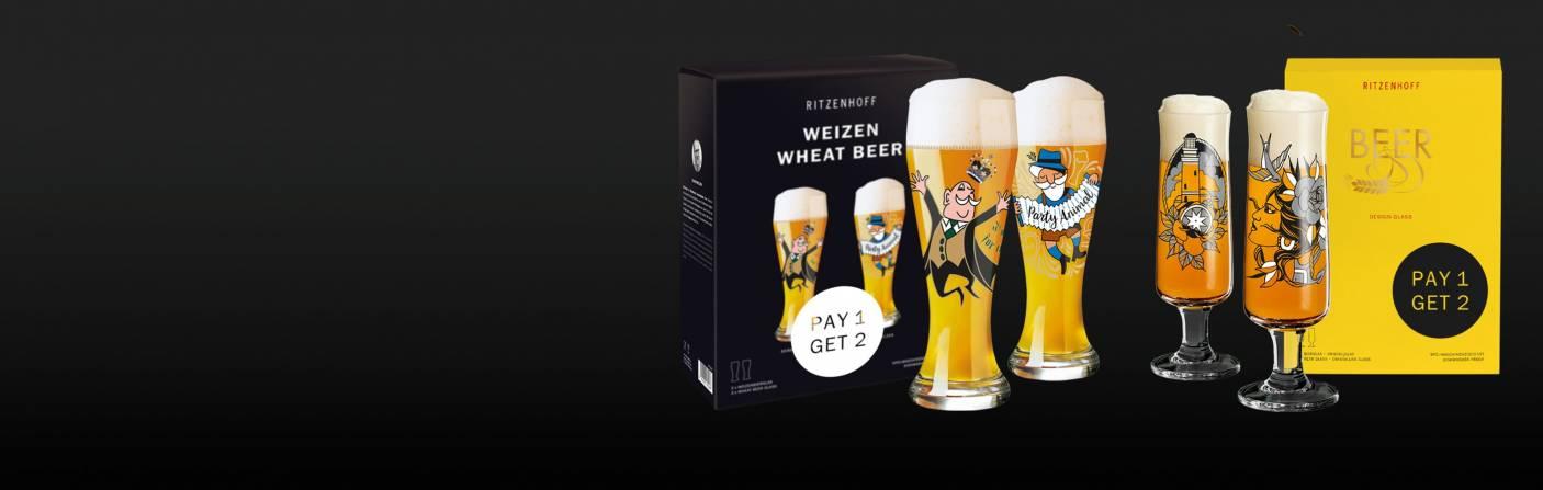 Weizen- & Bierglas-Sets – Nur ein Glas bezahlen, aber zwei bekommen