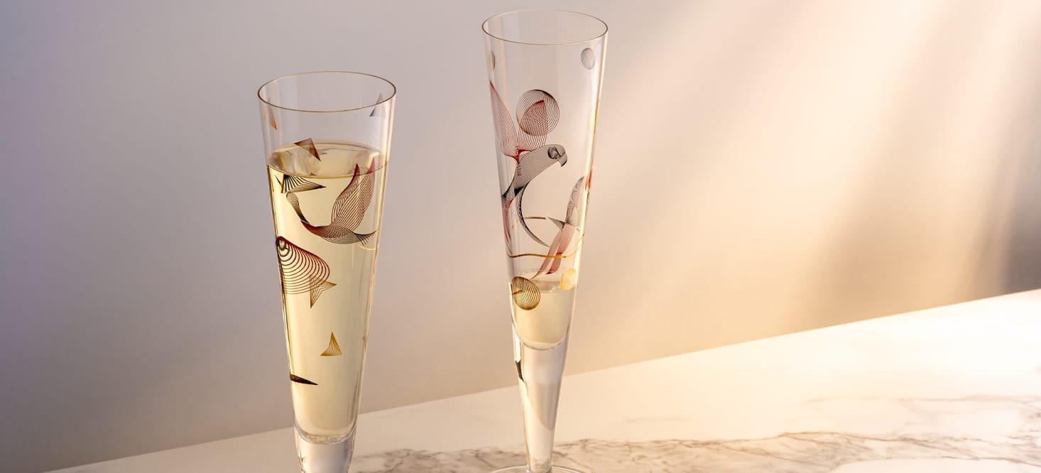 Goldnacht: Champagnerglas