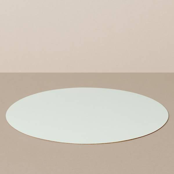 Platzset L, rund, in Weiß/Mint