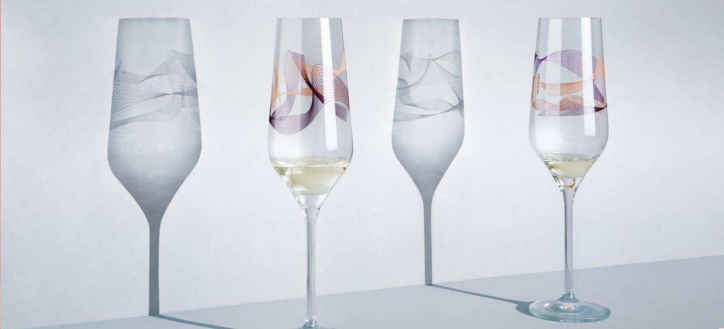 Kristallwind: Champagnerglas-Set
