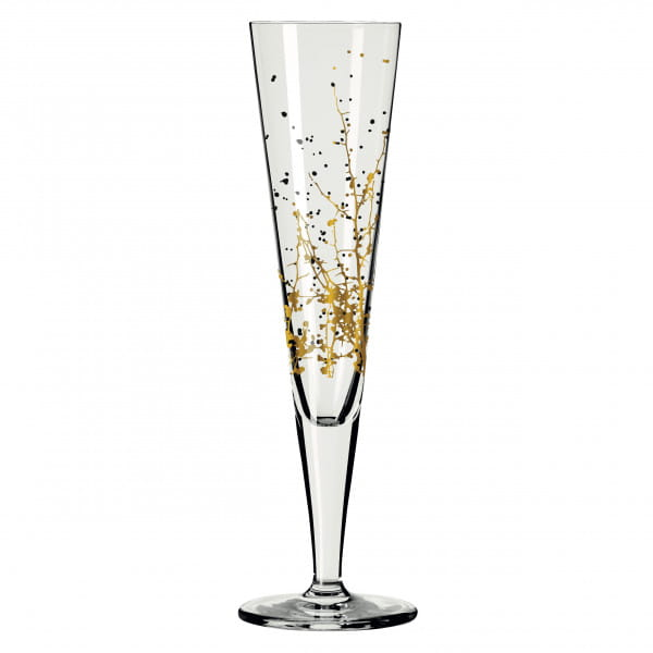 GOLDNACHT CHAMPAGNERGLAS-SET #1, #2 VON ROMI BOHNENBERG