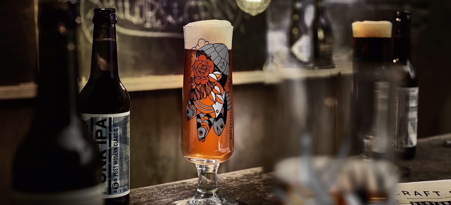 Beer + Schnapps: Bier- + Schnapsglas