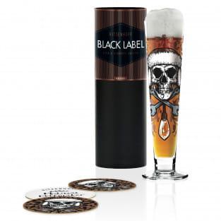 Black Label Bierglas von Medusa Dollmaker