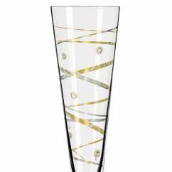 Champus Celebration Glass 2021 mit echten Swarovski-Steinen