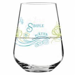Aqua e Vino Wasser- und Weinglas von Natalia Yablunovska