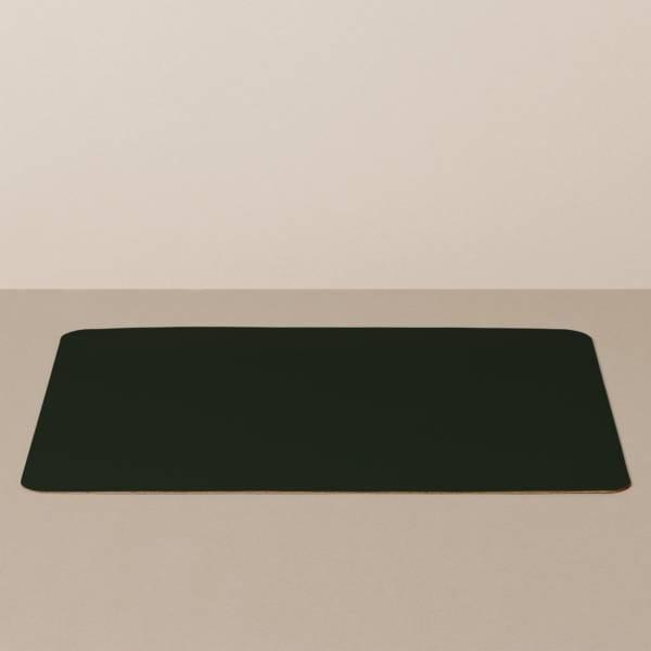 Tabletteinlage/Platzset XL, eckig, in Schwarz/Gelb