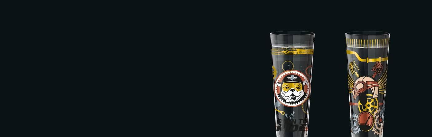 Black Label – Maskulin dekoriertes Schnapsglas