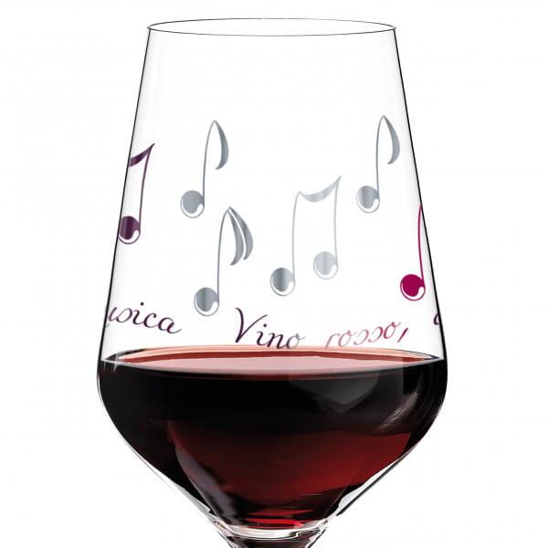 Red Rotweinglas von Angela Schiewer