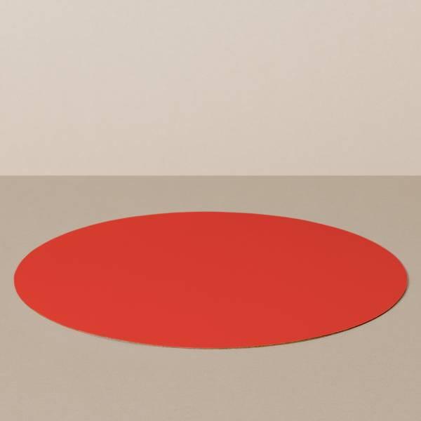 Platzset L, rund, in Schwarz/Rot