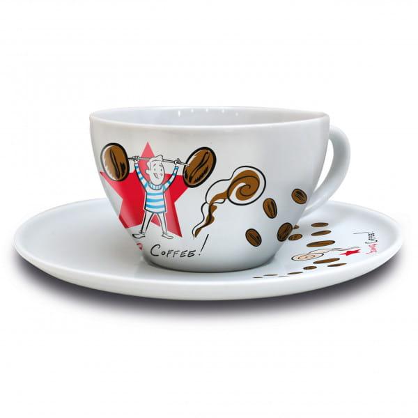 Coffee Love Cappuccinotasse von Ian David Marsden