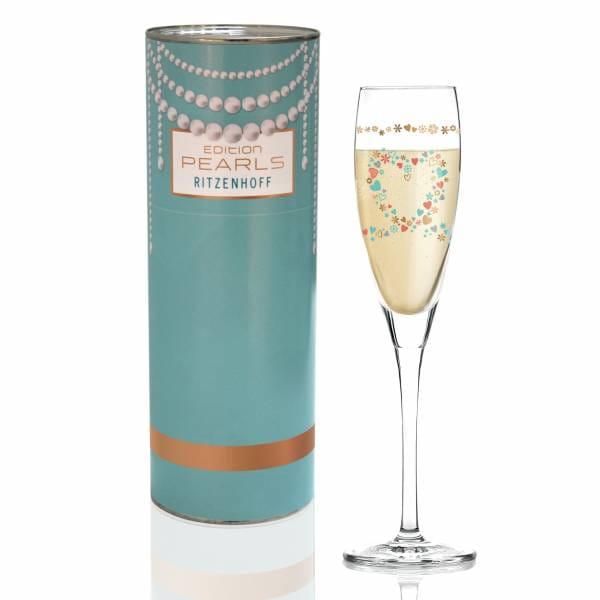 Pearls Edition Proseccoglas von Kathrin Stockebrand (Flugzeug)