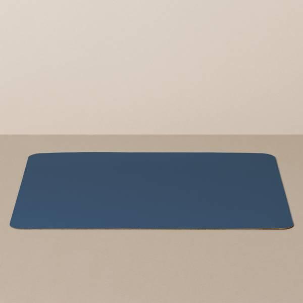 Tabletteinlage/Platzset XL, eckig, in Hellblau/Jeans