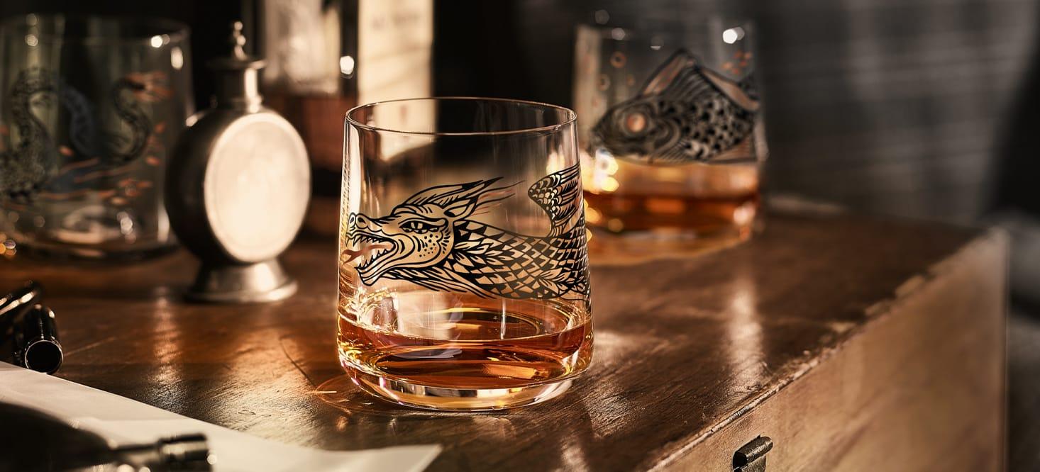 Bronzemär: Whiskyglas