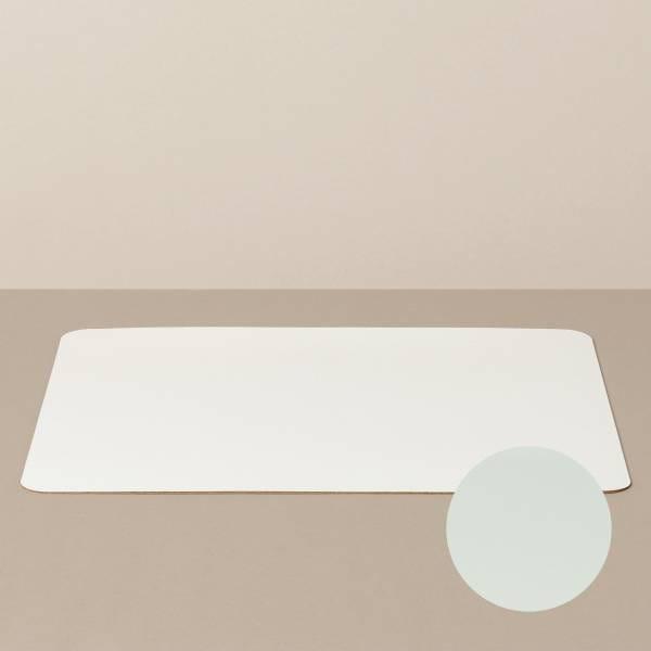 Tabletteinlage/Platzset XL, eckig, in Weiß/Mint