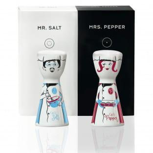 Mr. Salt & Mrs. Pepper Salz- und Pfefferstreuer-Set von Shari Warren