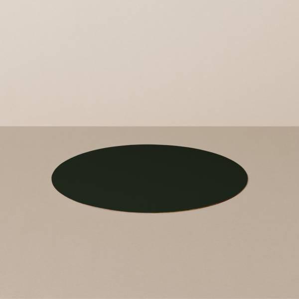 Untersetzer S, rund, in Schwarz/Rot