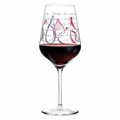 Red Rotweinglas von Virginia Romo