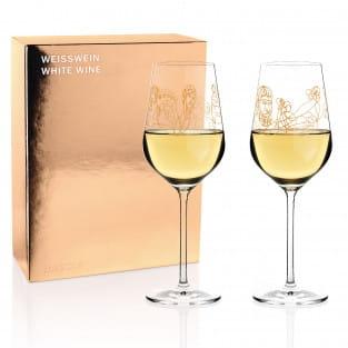 Wein-Ensemble Weißweinglas-Set von Burkhard Neie (Dionysos & Ariadne | Zeus & Leto)