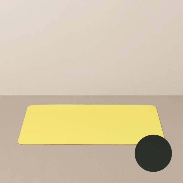 Tabletteinlage/Platzset L, eckig, in Schwarz/Gelb