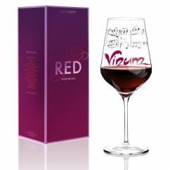 Red Rotweinglas von Annett Wurm