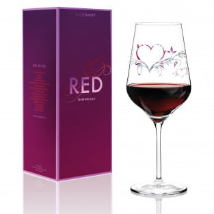 Red Rotweinglas von Kurz Kurz Design
