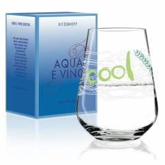 Aqua e Vino Wasser- und Weinglas von Virginia Romo