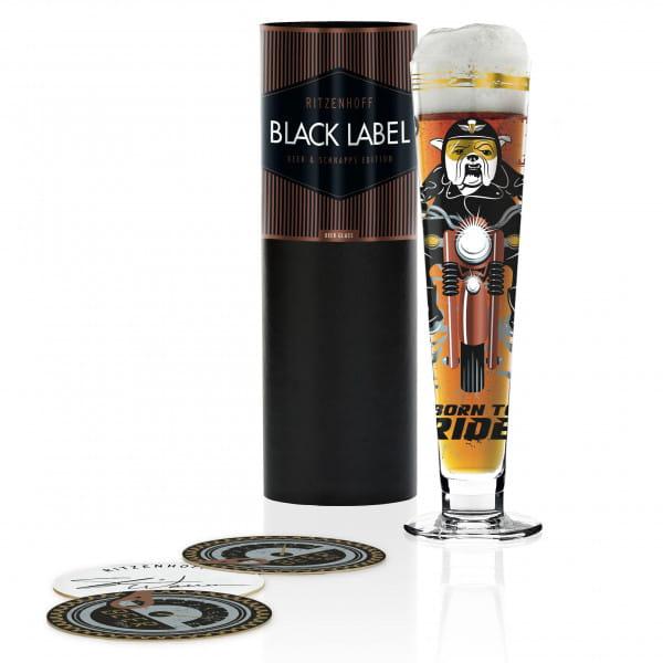 Black Label Bierglas von Shari Warren