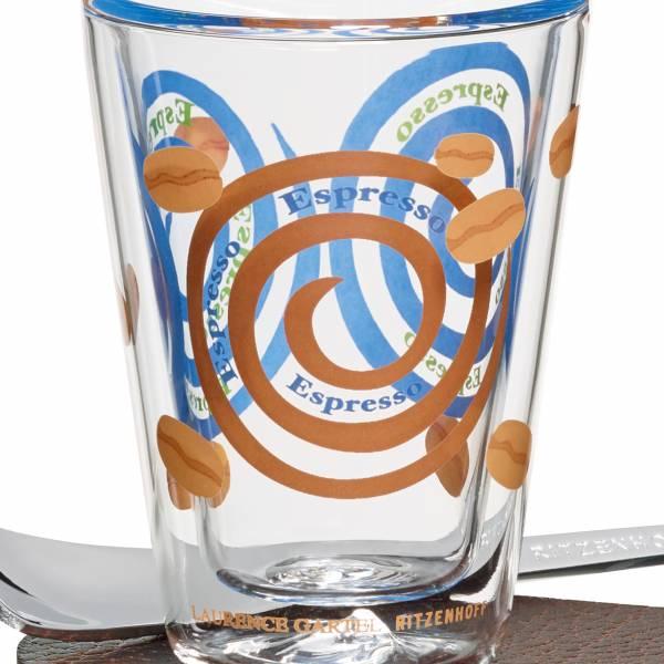 A Cuppa Day Espressoglas von Laurence Gartel